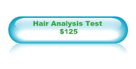 Hair analysis test button