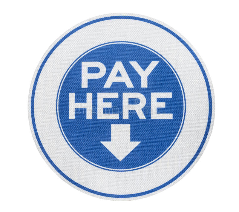 Pay here arrow